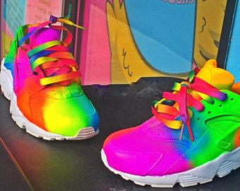 Nike Huarache Rainbow Soles custom NEW
