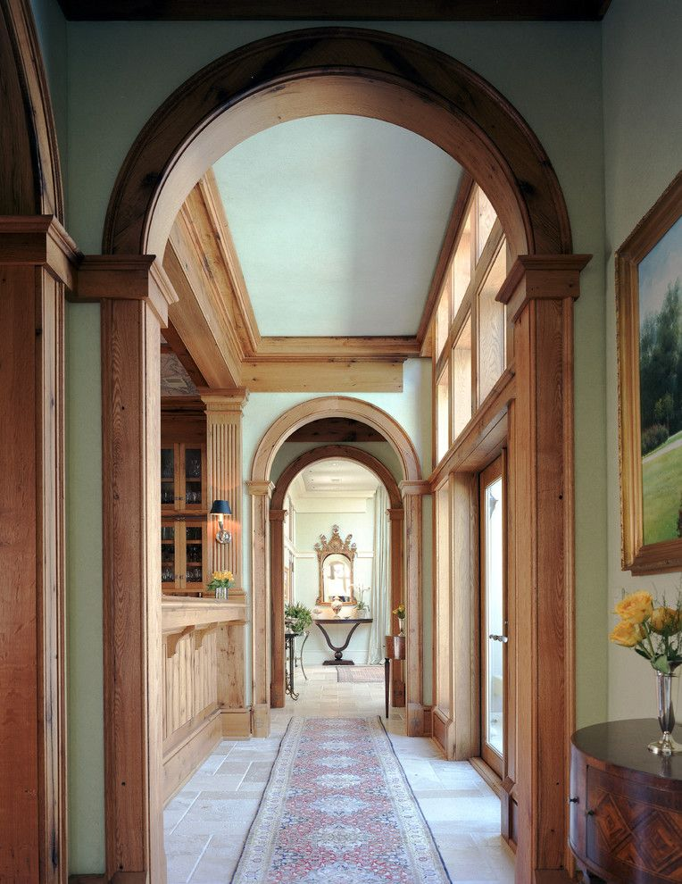 Engaging Wood Trim Home Interior Design Traditional Hall Charleston Home Insurance Arch Area Rug