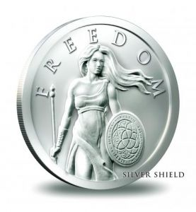 1 oz 2014 Competition is a Sin Silver Shield BU rounds .999 fine silver