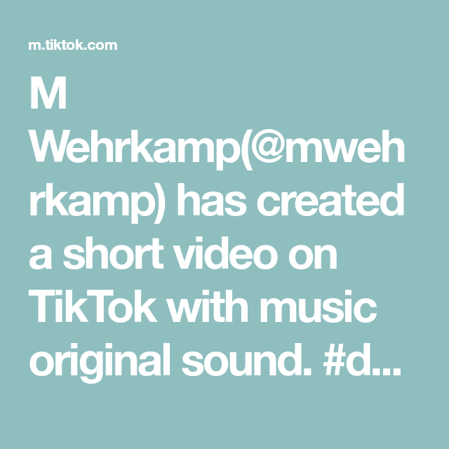 M Wehrkamp Mwehrkamp Has Created A Short Video On Tiktok With Music Original Sound Duet With Hannahklein21 That L In 2021 The Originals No Time For Me Greenscreen