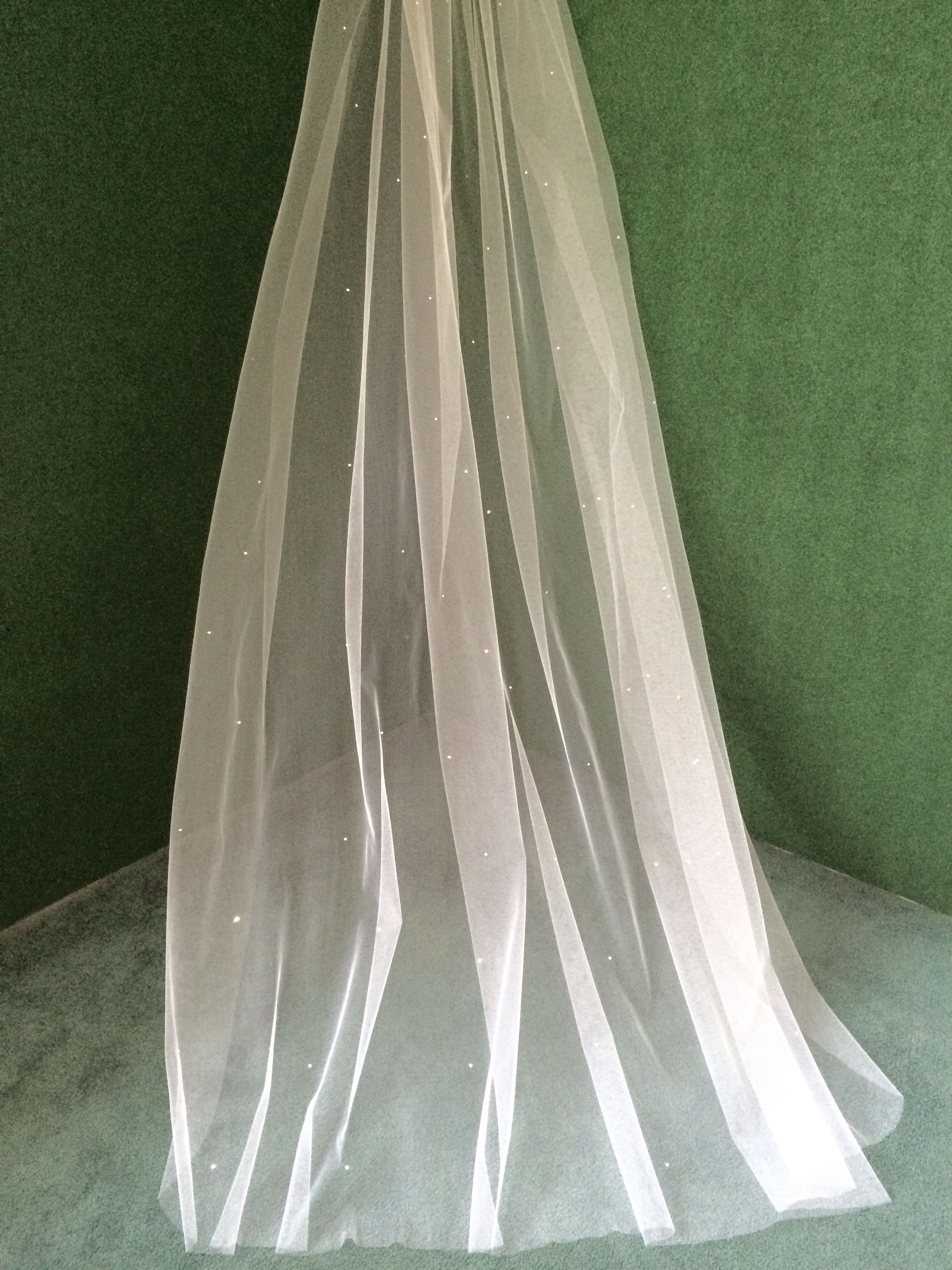 Cathedral Cascading Veil with Swarovski Crystal