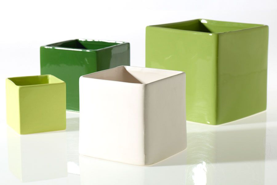 Matte White Square Vase For Diy Centerpieces And Home Decor Vases