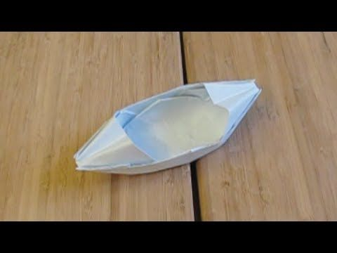 how to make a paper boat canoe step by step