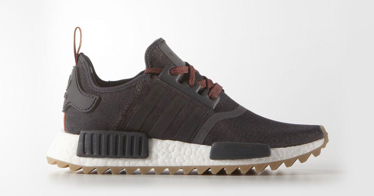 womens adidas nmd r1 trail utility black sneakers shoes