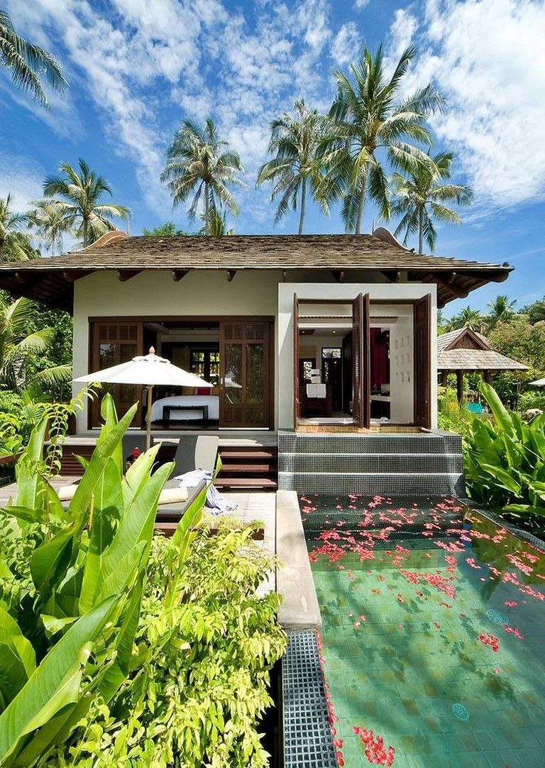 50 Stunning Tropical Home Design With Mini Pool Page 50 Of 54 Tropical Houses Resort Design Rest House