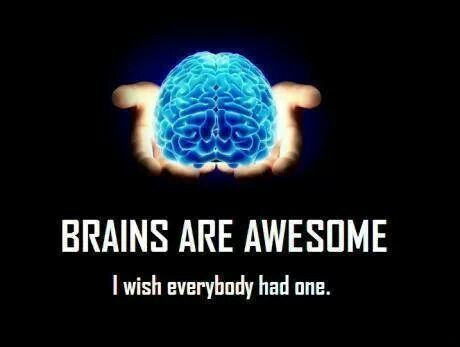 Brains are awesome i wish everybody had one.