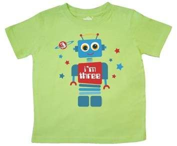 3af4cc32 INKtastic Robot 3rd Birthday Toddler T-Shirt in 2019   Products