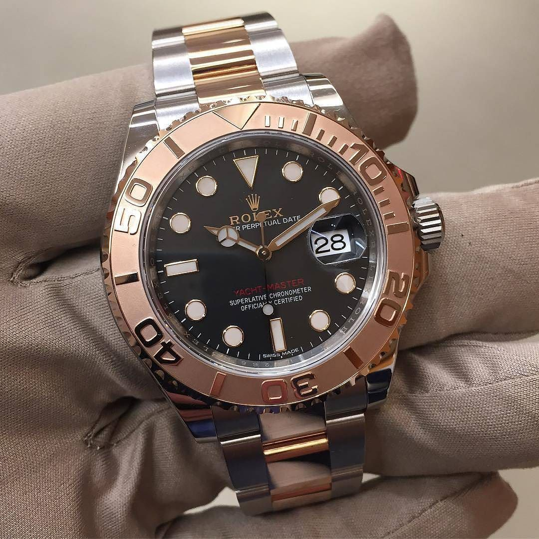Rolex mm yacht master steel u ever rose gold this model is in