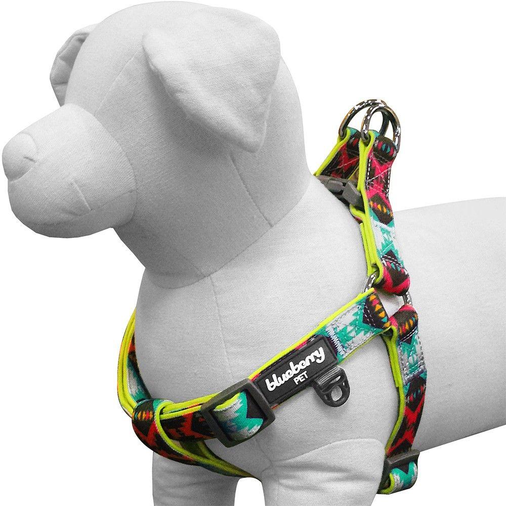 Vintage Tribal Pattern Neoprene Padded Dog Harness in