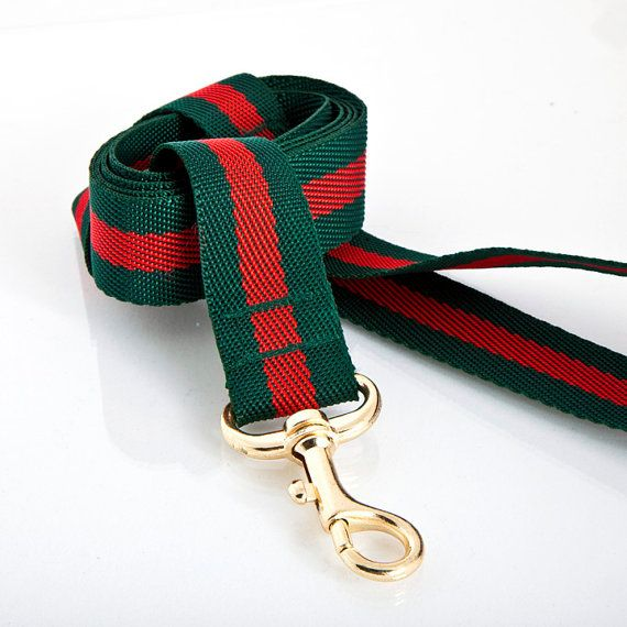 610d19bba76 GUCCI look Dog leash by aceboon on Etsy, $37.00 | pet products | Dog ...