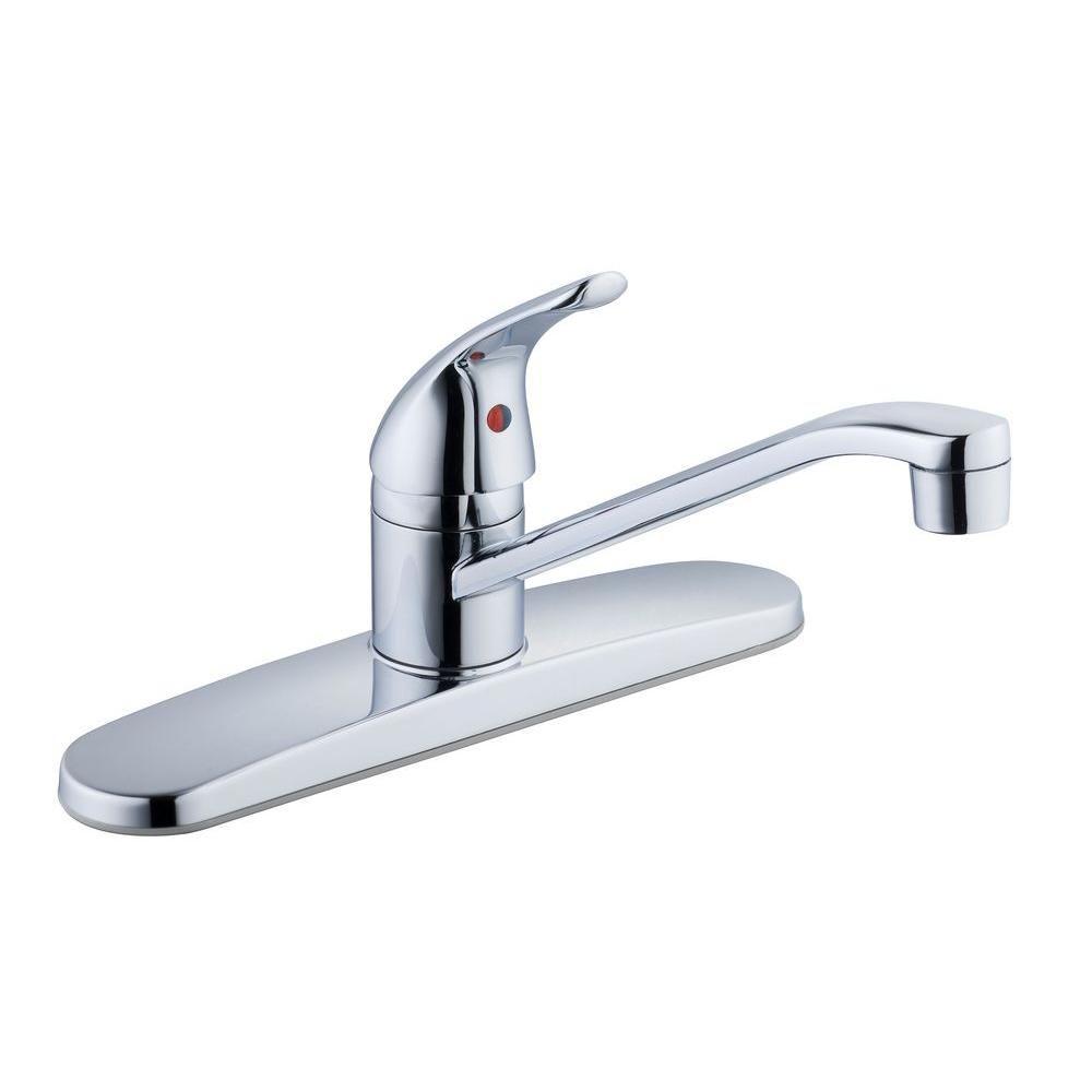 Glacier Bay Single-Handle Standard Kitchen Faucet in Chrome (Grey ...