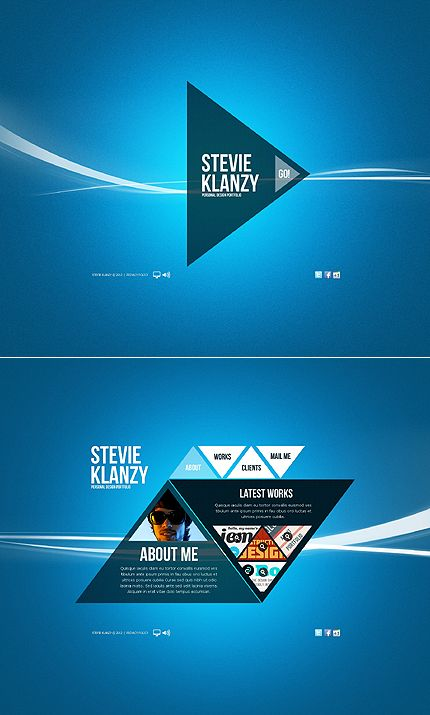 template 38928 - creative triangle design flash website template, Powerpoint templates