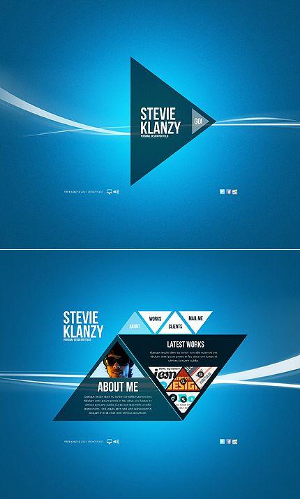 Template 38928 - Creative Triangle Design Flash Website Template ...