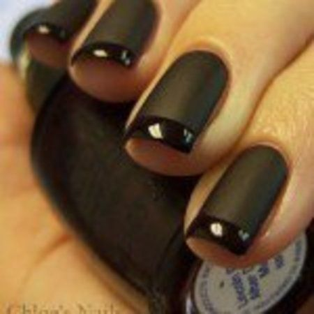 Nail Art Designs Matte Black Hession Hairdressing