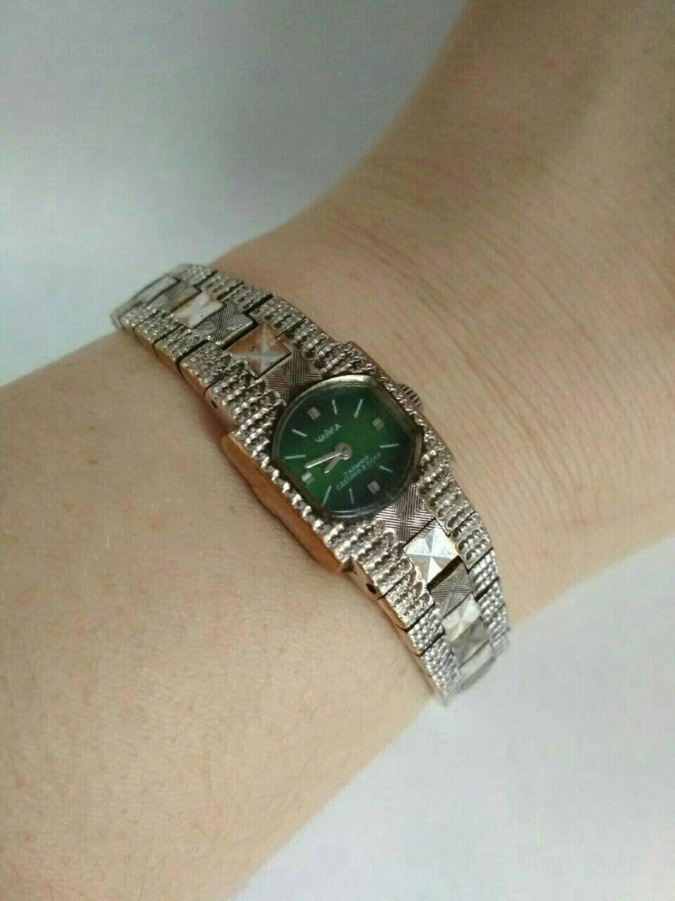 Green mechanical watch Chaika 17 jewels Gold vintage Ladies watch Soviet watch Women's retro watch Vintage watch Russian watch #vintagewatches