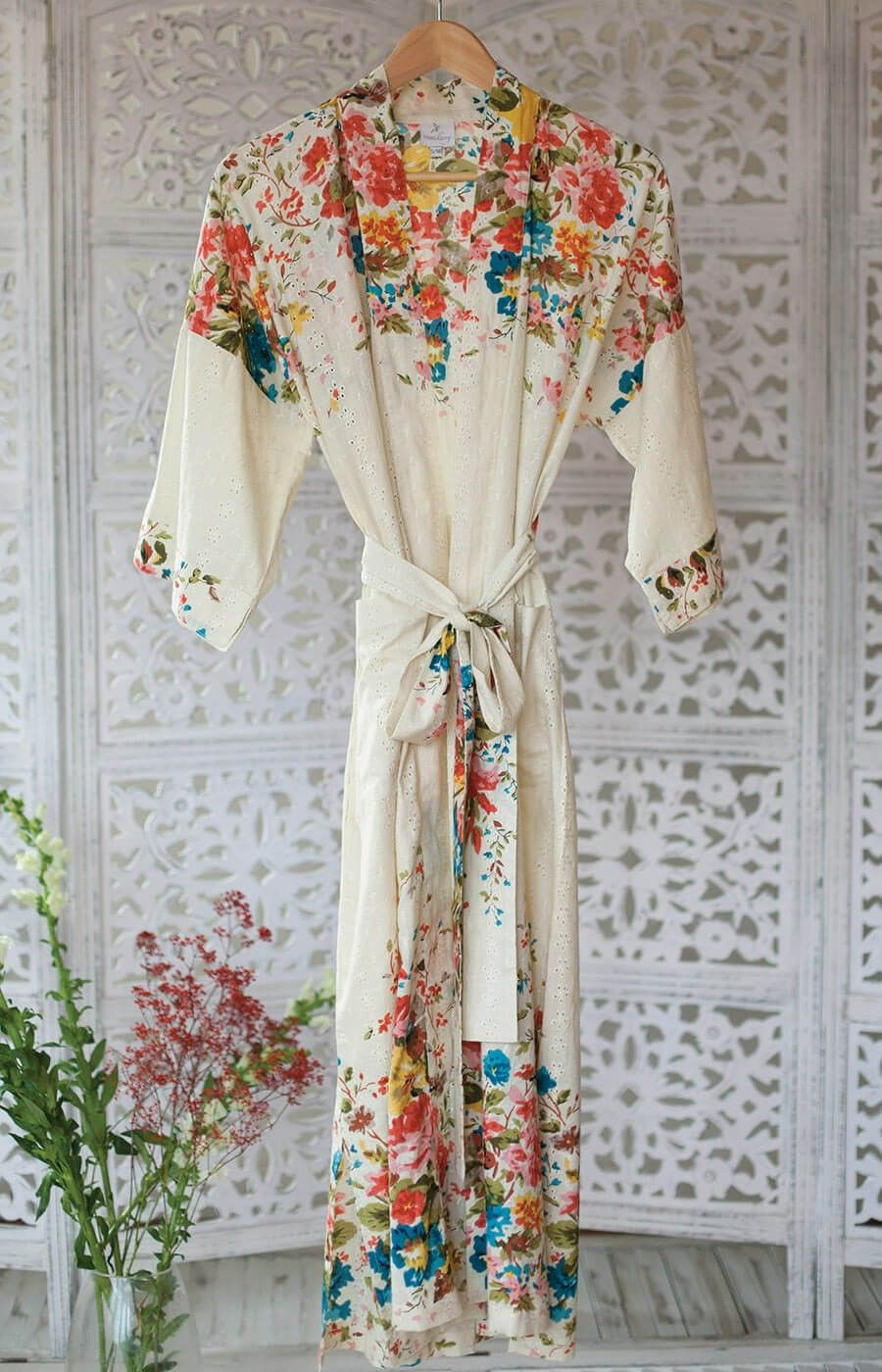 Orchard Blossom Organic Cotton Dressing Gown My Style Frocks