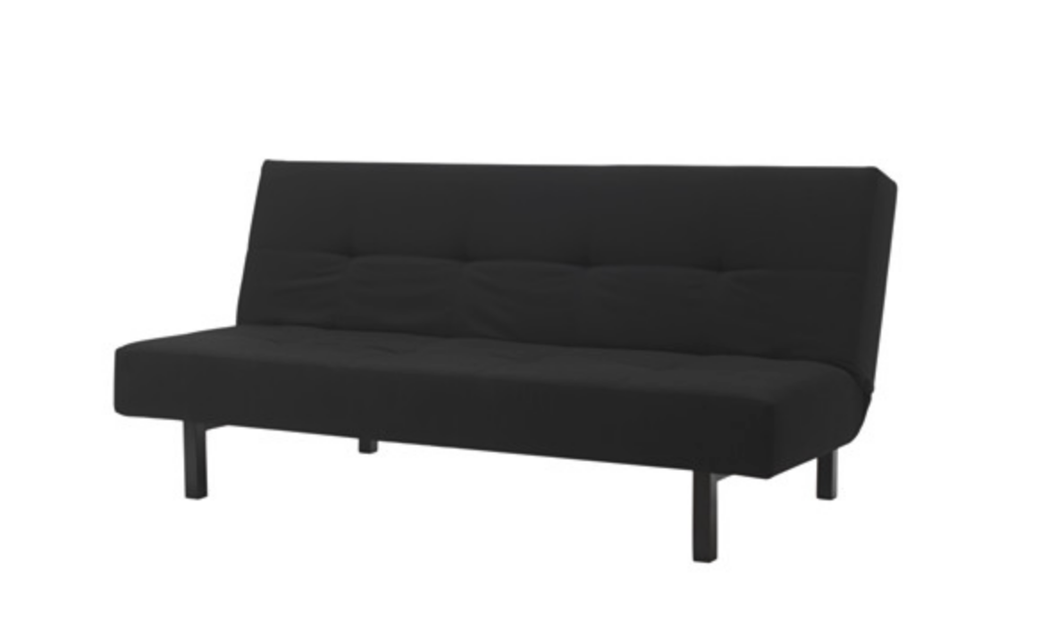 bianca futon sofa bed review full size sleeper mattress dimensions ikea balkarp knisa black future house shopping list 169