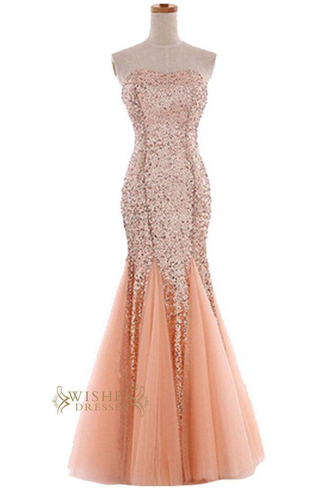 d1db1ed69 Sexy Mermaid Orange Sparkle Sequins Gown  Formal Dress  Prom Dress