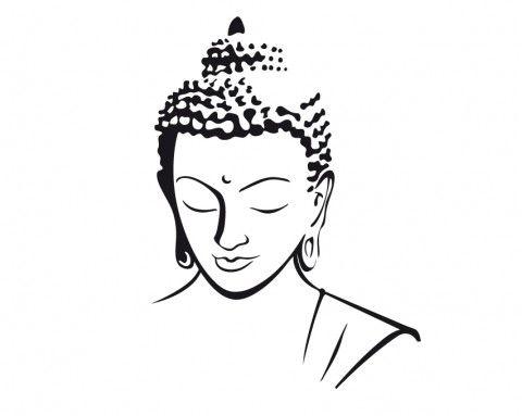 Sticker Tete De Bouddha Bouddha Dessin Peinture De Bouddha
