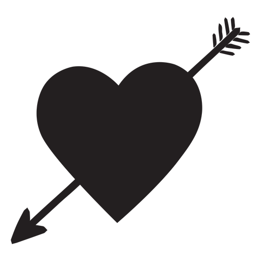 Heart With Arrow Silhouette Png Image Download As Svg Vector Transparent Png Eps Or Psd Use This Heart With Arrow S In 2021 Arrow Silhouette Heart With Arrow Arrow