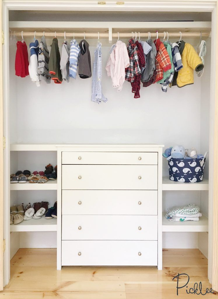 This Built In Closet Using IKEA Koppang Dresser!