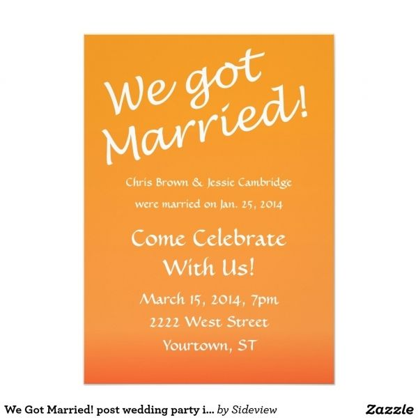 Awesome 11 Post Wedding Reception Invitations Wording Check More At Http Jharlowweddingplanning