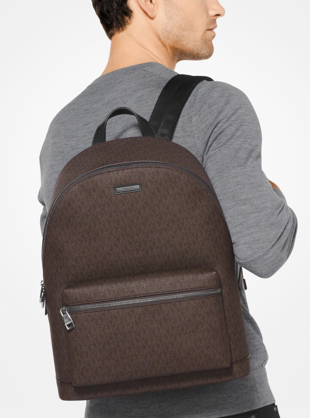 dc7a3bef2e3cf Price Michael Kors Brown Mens Jet Set Logo Backpack Shop