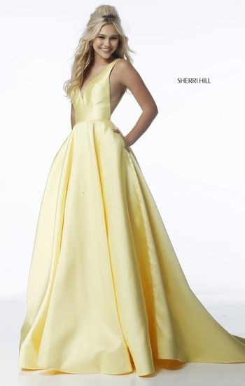 Prom silk ballgown. Available in light blue, yellow, pink, and red ...