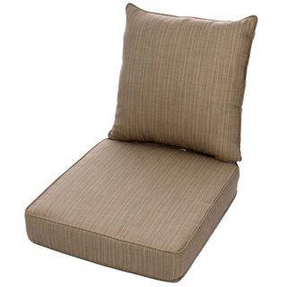Clara Wicker Outdoor Arm Chair Cushion Throw Pillow Set With