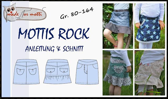 Made for Motti Mottis Rock Größe 80-164 | Kinderröcke Schnittmuster ...