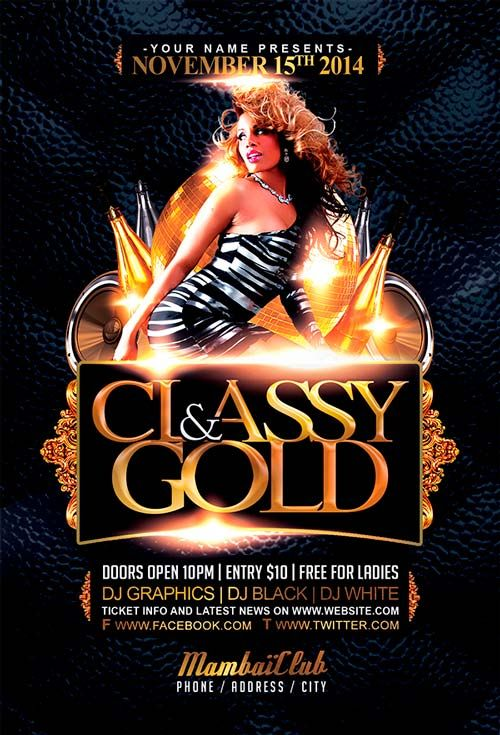 Free Classy And Gold Free Flyer Template -    freepsdflyer - harmony flyer template