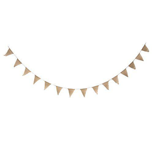 Jute Banner - TINKSKY Wimpel Fahnen für Hochzeit Dekoration-15st (braun) Tinksky http://www.amazon.de/dp/B014J93RD4/ref=cm_sw_r_pi_dp_j8qLwb09MAZ5P