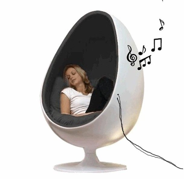 Eggchair Music Speaker Chair Cocoonchair Multimedia Soundchair Eyeball Sound Chair Picture By Urbindsign