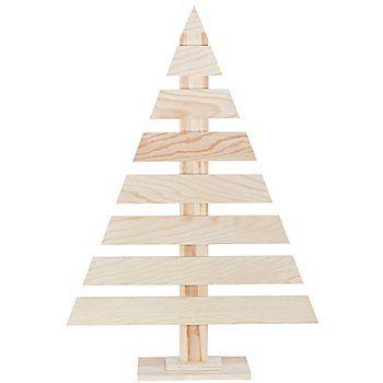 Favorit Tannenbaum aus Holz, zum Bemalen und Verzieren, Farbe: natur DV46