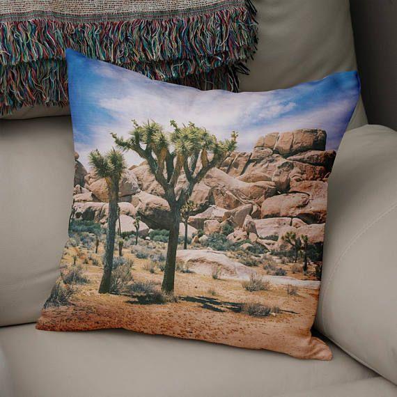 National Park Nature Decor Joshua Tree Pillow Photo Pillow Natural Decor