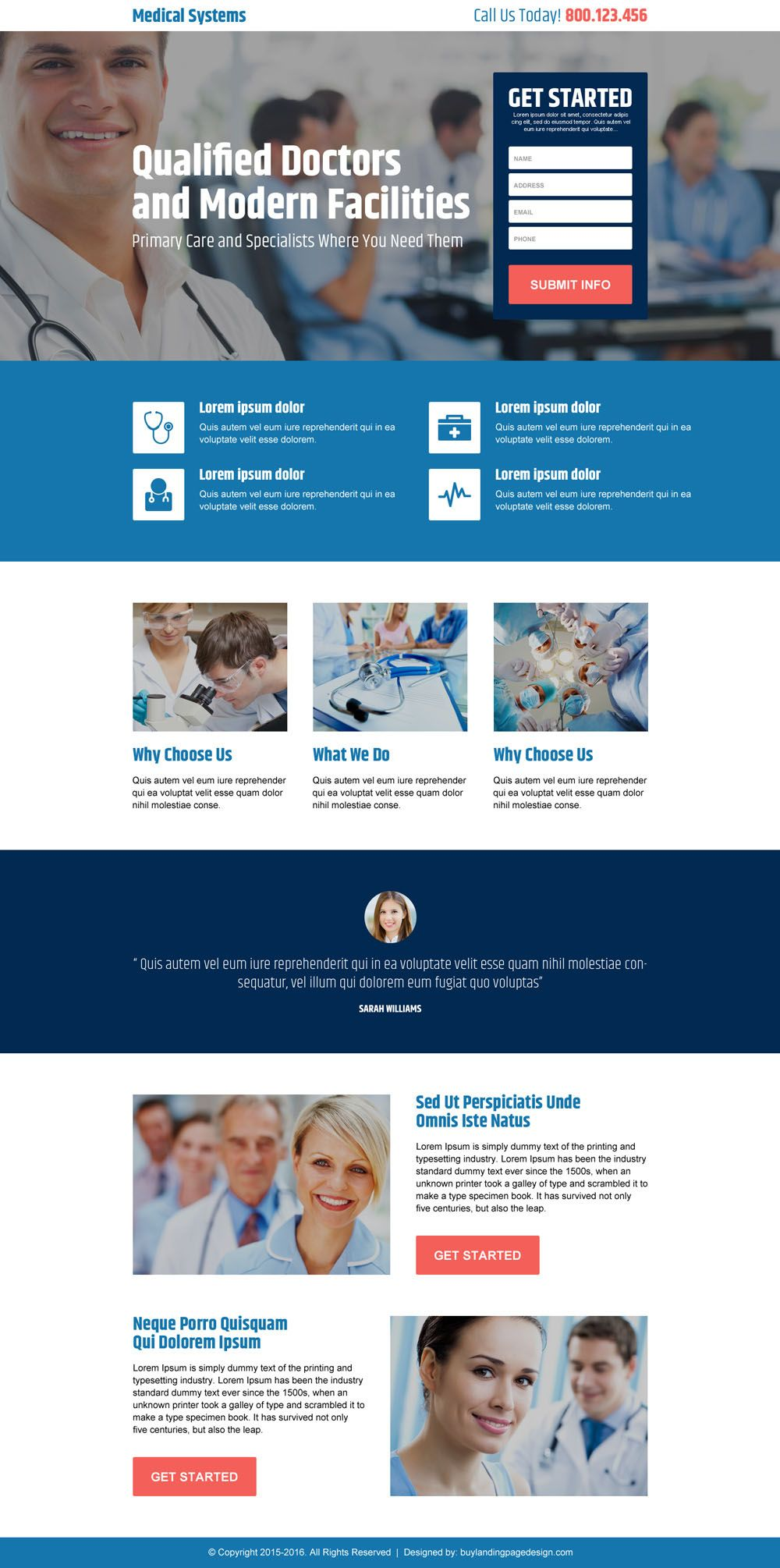 Qualified Doctor Medical Lead Generating Responsive Landing Page