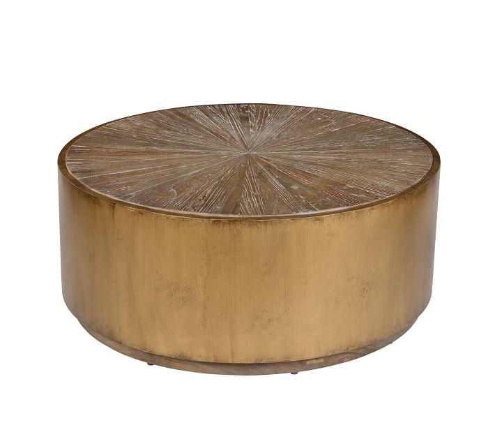 Brockton Metal Wrapped Coffee Table, Antiqued Black ...