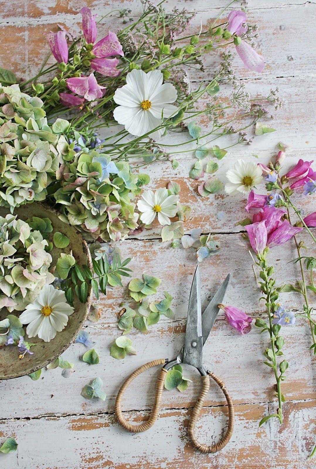 """VIBEKE DESIGN: Jeg """"maler""""med blomster"""