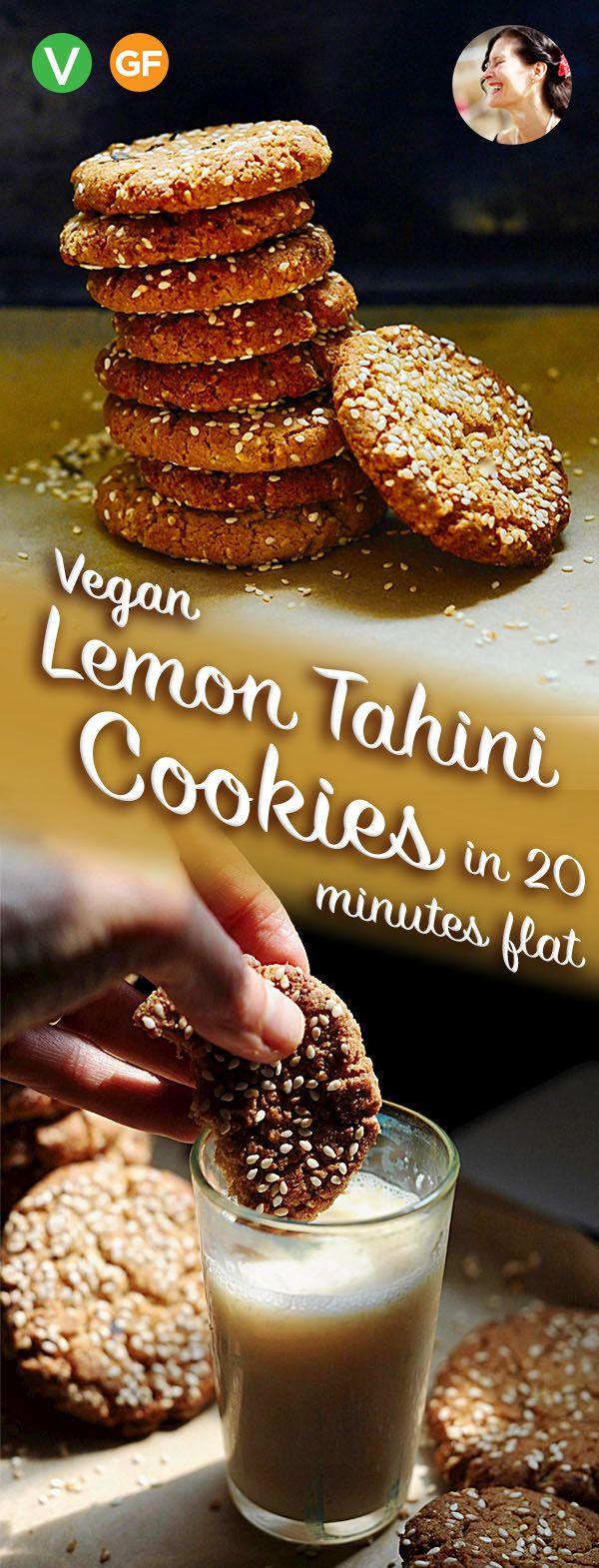 Vegan Lemon Tahini Cookies Gluten Free