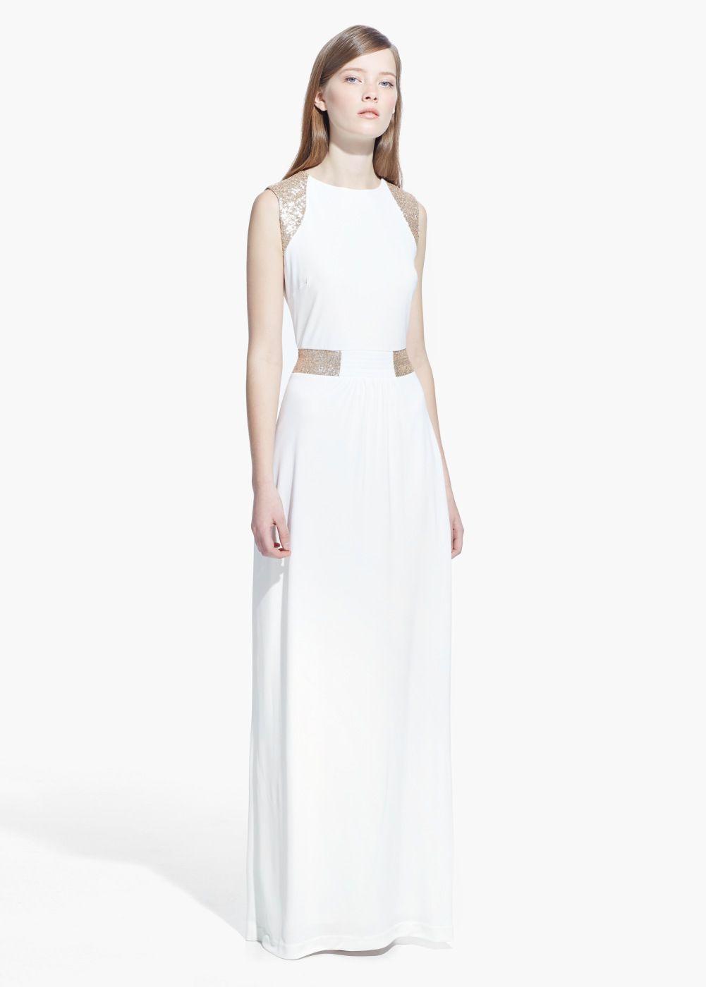 This is quite nice sequin appliqué dress budget wedding dress