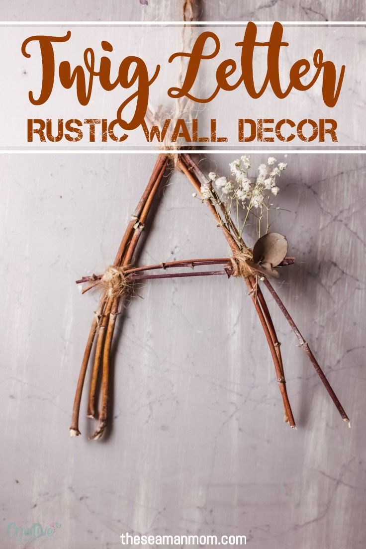 EASY TWIG LETTER CRAFT