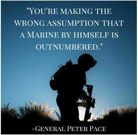 Marines Quotes Mesmerizing Outnumbered There's One Of Meand Only 3 Of You  Marines . 2017