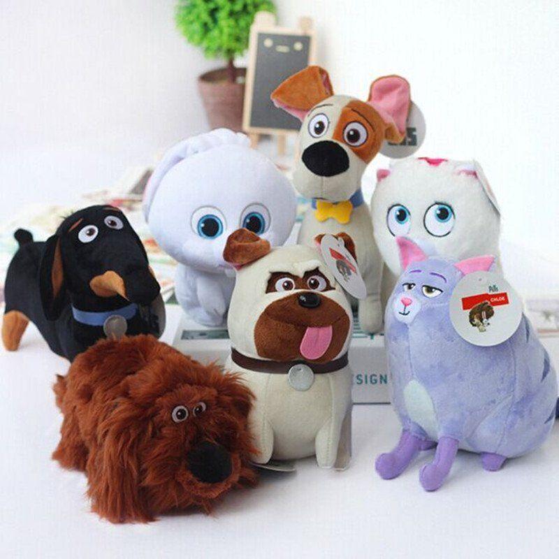 The Secret Life Of Pets Plush Toys Max Snowball Gidget Mel Chloe Buddy Duke Dog Animals Cartoon Dolls Stuffed Toys Plush Dog Toys Love Your Pet Plush Dolls