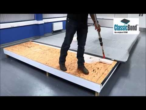 How to install a Classicbond One Piece EPDM rubber roof ...