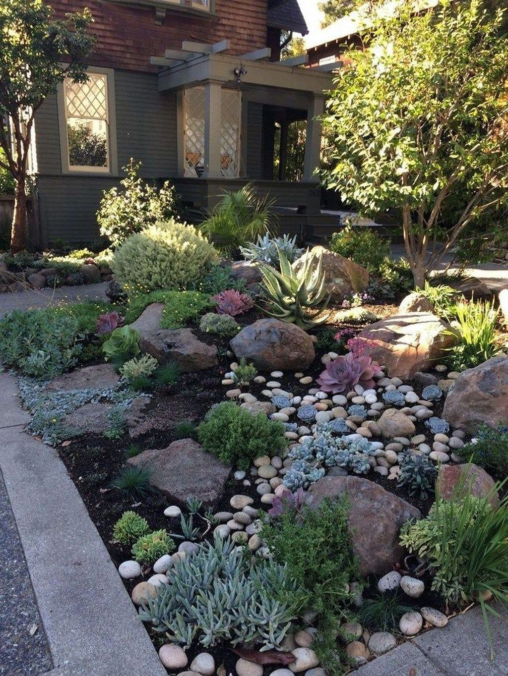 44 beautiful front yard rock landscaping ideas for your on beautiful backyard garden design ideas and remodel create your extraordinary garden id=58353