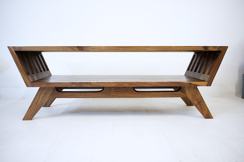 The April Modern Coffee Table Black Walnut Coffee Table Midcentury Coffee Table Ch Walnut Coffee Table Modern Mid Century Coffee Table Modern Coffee Tables [ 996 x 1500 Pixel ]