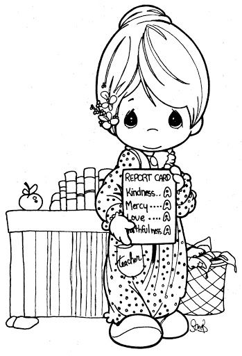 Teacher\'s day coloring pages | precious moments coloring | Pinterest ...