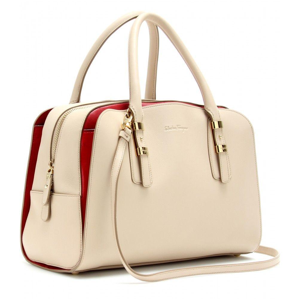 89abdb71f595 mytheresa.com - Salvatore Ferragamo - EMMY LEATHER HANDBAG - Luxury Fashion  for Women   Designer clothing