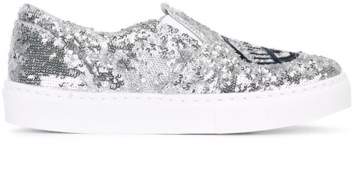 Chiara Ferragni glitter slip-on sneakers