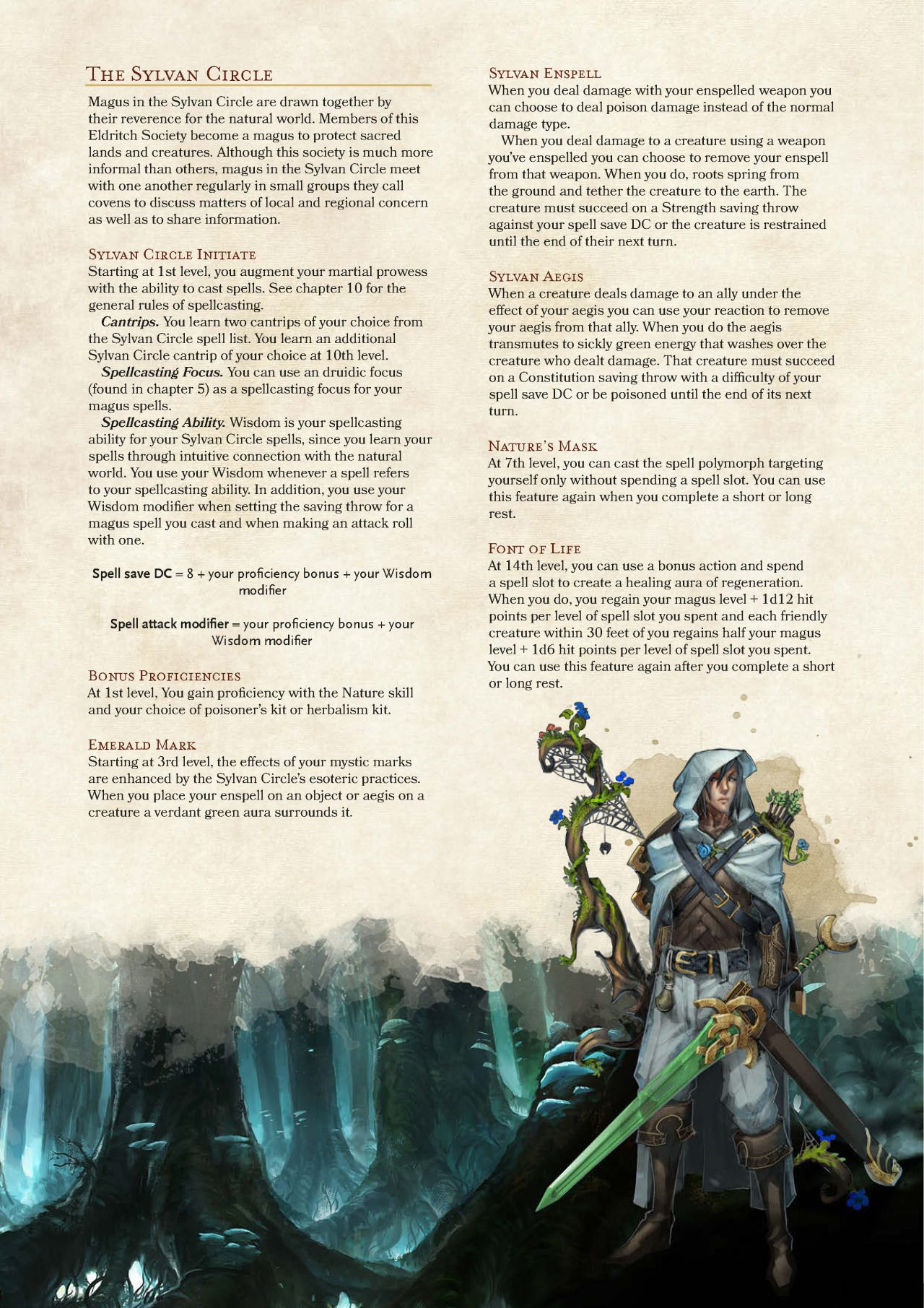 DnD 5e Homebrew — Magus Class by coolgamertagbro / Sterling